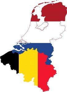 kaart van Nederland en België