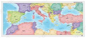 kaart middellandse zee gebied